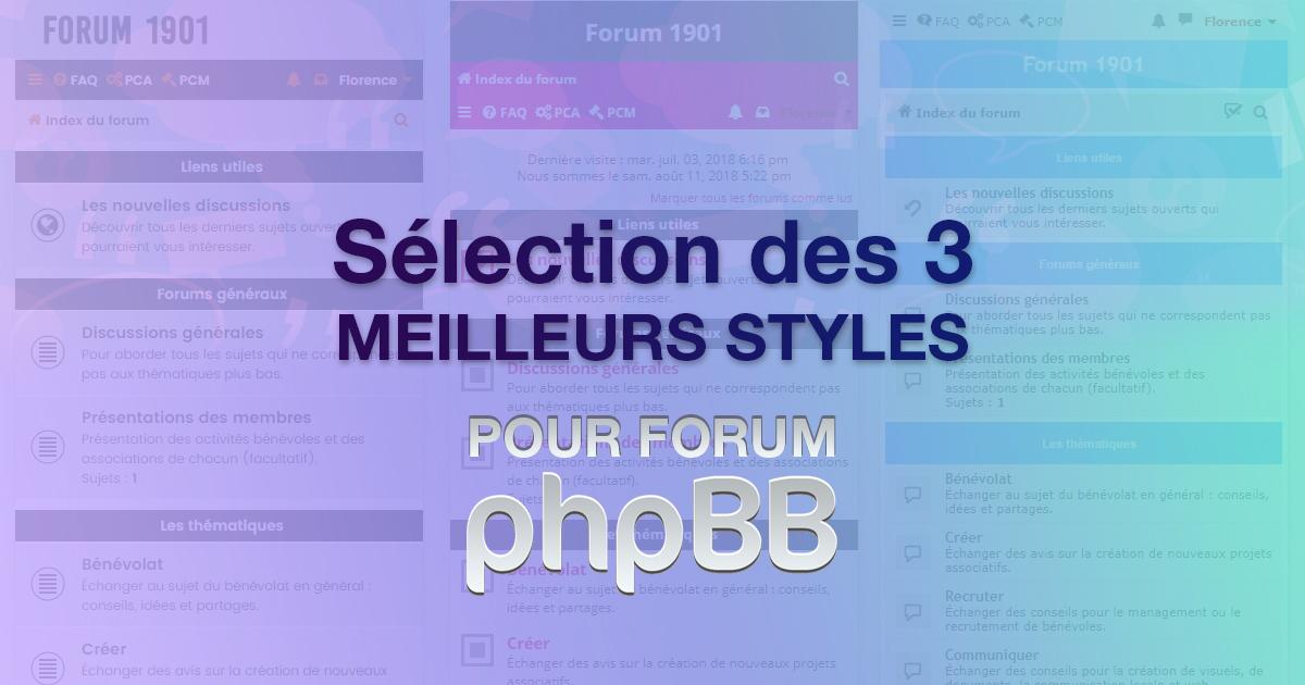 Les 3 meilleurs styles gratuits pour forum phpBB